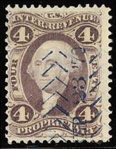 R22d, Rare 4¢ Silk Paper Revenue Stamp - Stuart Katz - $175.00