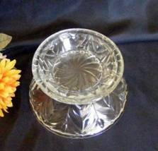 1937 Jeannette Clear Glass Feather Punch Bowl Base - $22.50