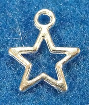 20Pcs. Tibetan Silver-Plated Open Star Charms Earring Drops Jewelry Find... - $19.64