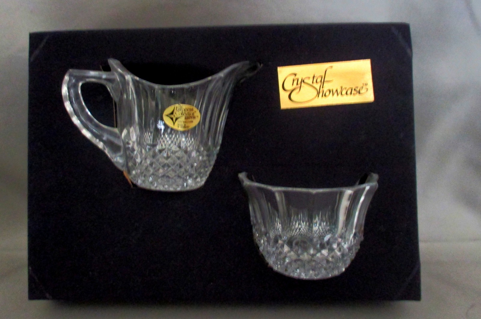 Crystal Cream and Sugar Set NIB from the  European Collection W. Germany image 2