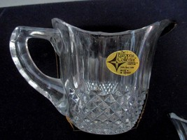 Crystal Cream and Sugar Set NIB from the  European Collection W. Germany image 3