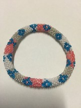 Roll On Glass Beaded Bracelet - Nepal Glass Bead1 Pc. Exact As Picture - $2.75