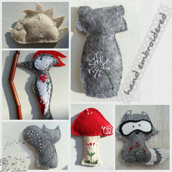 Baby mobile woodland theme mobile baby shower gift nursery for Room decoration gifts