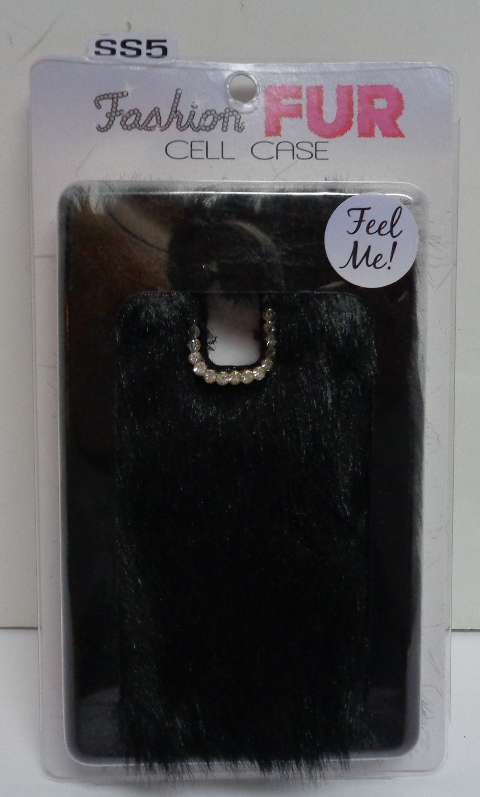 Black Fur SS5 Cell Phone Case NIB Gadget Gear Novelty Fashion