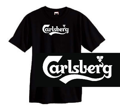 Carlsberg Beer T shirt soccer alcohol british 100% cotton graphic black tee