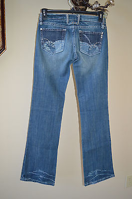 Miss Me Crystal Rivet Boot Cut Lightly Distressed Style JP4602 Jeans Size 27