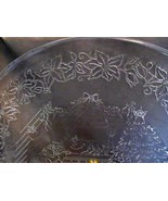 "Princess House 13"" Crystal Holiday Platter 075 Unique Collectible USA Made - $16.99"