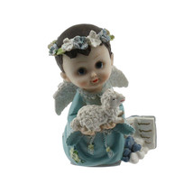 Christening - Baby Boy Angel with Lamb Flower Halo - $6.88