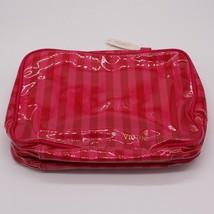 Victoria's Secret Pink Stripe Travel Makeup Bag Case Brand New MSRP $70 - $24.99