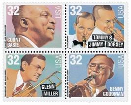 1996 32c Big Band Leaders, Block of 4 Scott 309... - $2.51