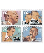 1996 32c Big Band Leaders, Block of 4 Scott 309... - $2.51