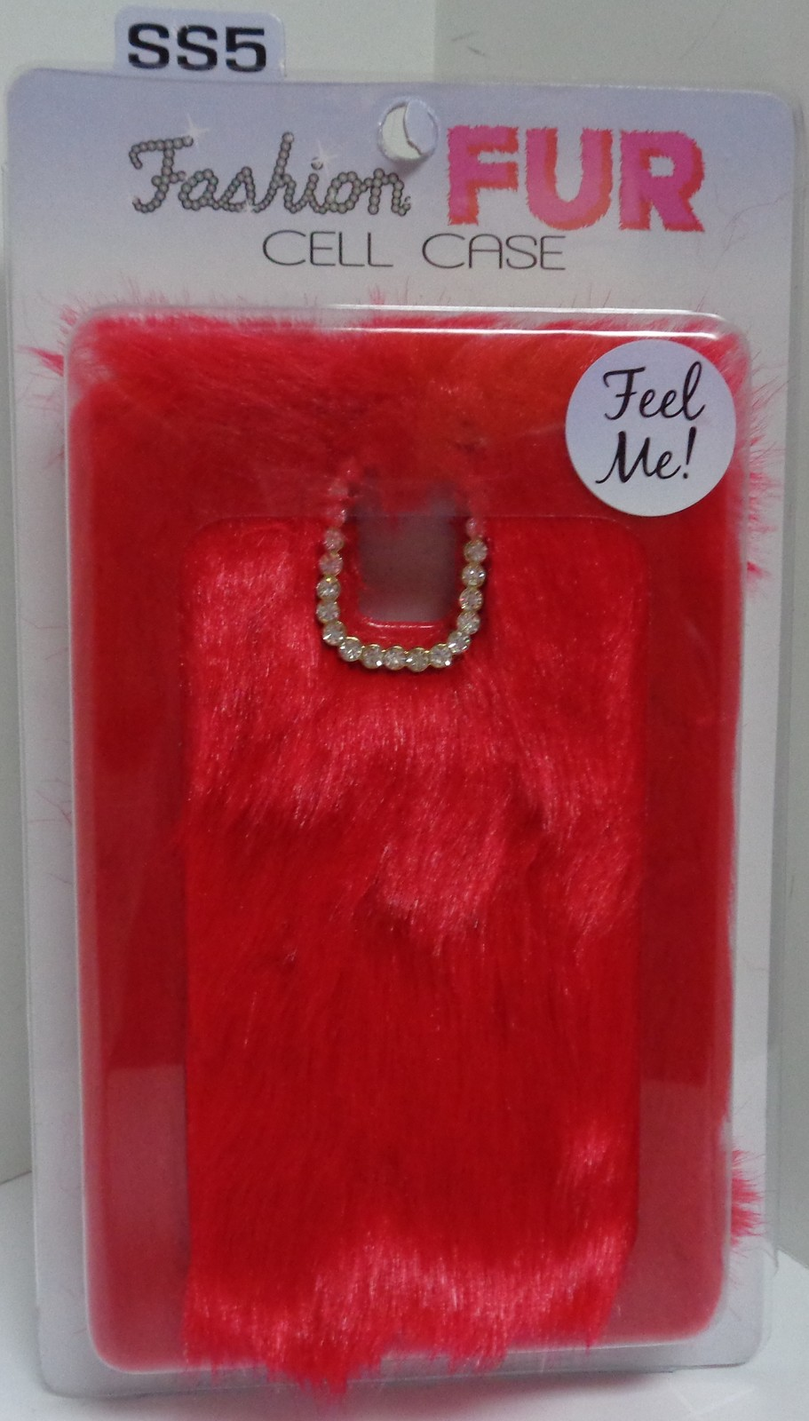Red Fur SS5 Cell Phone Case NIB Gadget Gear Novelty Fashion