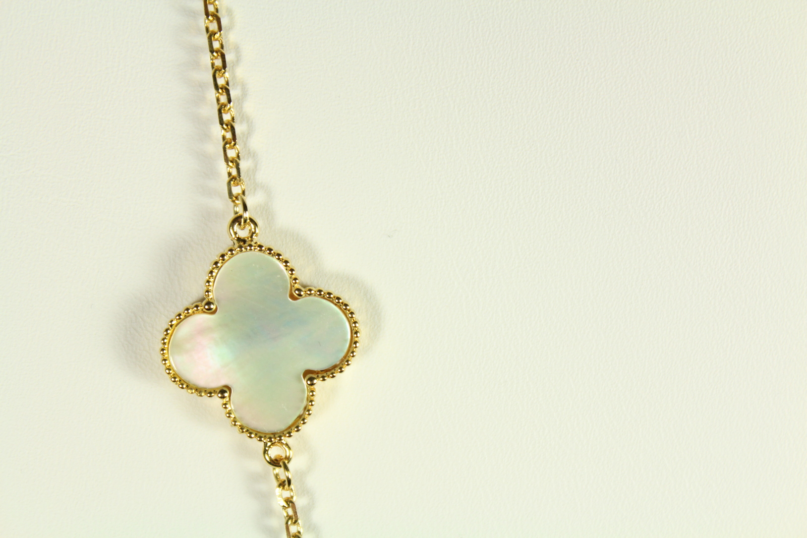 Mixed mother of pearl with cubi zirconia.