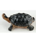 WONY Ceramic Turtle Black Shell Vintage Figurine Japan w Original Label - $8.00