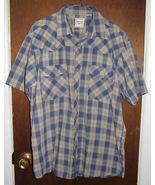 Mens Western Plains Trading Co. Western Pearl Snap Shirt Sz Medium Blue ... - $9.99
