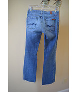 7 For All Mankind Boot Cut Blue Stitch Pockets ... - $26.95