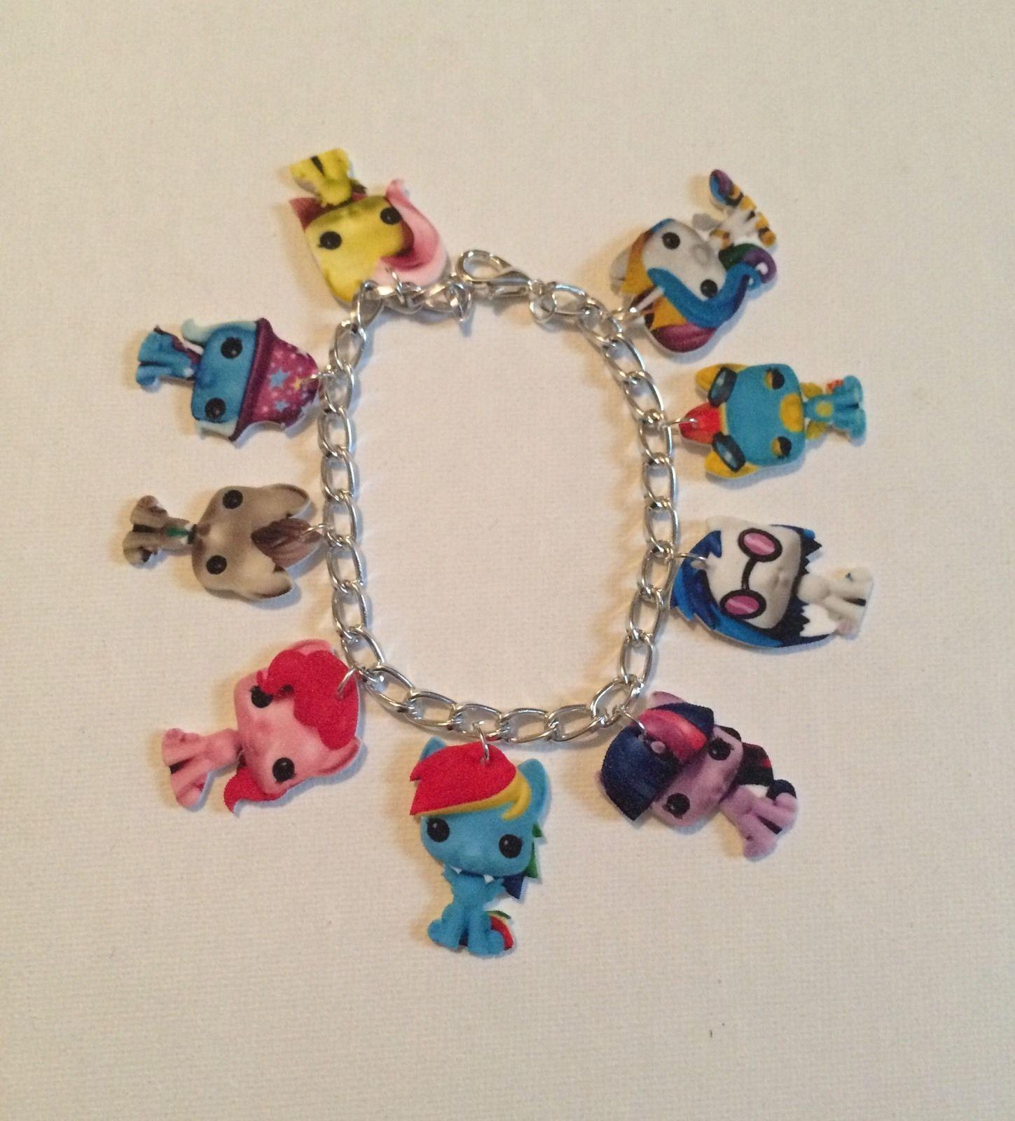 my pony dolls charm bracelet handmade plastic