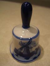 "Vintage Delft Porcelain Bell Handpainted Blue Holland 3"" Tall - $15.00"