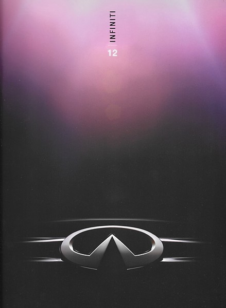 Primary image for 2012 INFINITI MODELS brochure catalog 12 G EX FX QX M