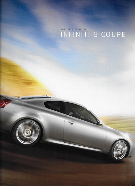 Primary image for 2012 Infiniti G COUPE specifications brochure catalog 12 IPL G37 accessories