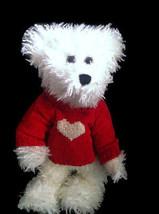 "Boyds Bears Juliet S Bearlove 12"" White Bear #912651 Valentine Red Heart... - $15.83"