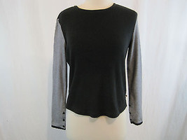 Tommy Hilfiger Black/White Striped Arms Blouse ... - $15.83
