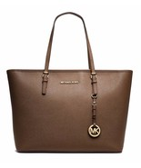 NWT MICHAEL KORS Jet Set Saffiano Leather Trave... - $246.05