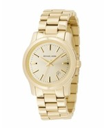 NEW WOMENS MICHAEL KORS (MK5160) GOLD RUNWAY STAINLESS STEEL WATCH - $99.00