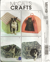 McCall's Crafts M5149 Cat Dog Pet Beds Hide-a-Way House Pattern  - $21.95