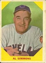 1960 Fleer Al Simmons 32 Indians VG - $1.00