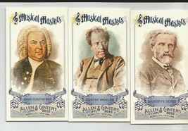 MUSICAL MASTERS 2012 ALLEN & GINTERS MINI'S LOT OF 3 - $3.99