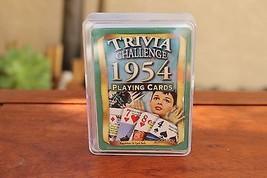 Trivia Challenge 1954 Playing Card Set Audrey Hepburn Cover - $7.22