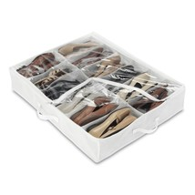 Underbed Boots Bag Fabric Cover Shoes Organizer Dirt Dust Protection NEW - $24.08