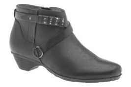 Abeo Nancy  Ankle Booties Black women's Size US 7 Neutral Footbed ()() 4997 - $80.00