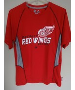 Vintage Majestic Therma Base NHL Detroit Red Wings Hockey Poly Shirt Men... - $18.70