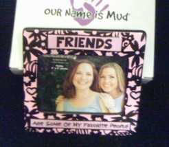 Friends Are Some Of My Favorite People Photo Frame Pink Black Our Name I... - $9.99