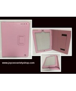 """Tablet Reader iPad Protection Case Pink 9"""" x 6"""" Screen Faux Leather - $9.99"""