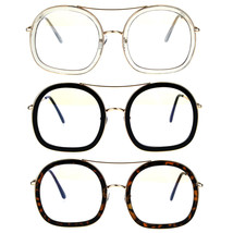 Womens Double Rim Designer Clear Lens Eye Glasses - $12.95