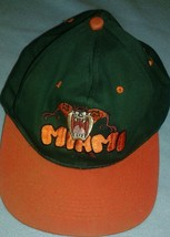 Vtg Looney Tunes Tazmanian Devil University Of Miami Um Taz Hat Preowned - $27.71