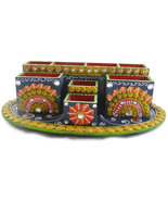 Handmade Hand painted Wooden Pen stand big Decorative Artistic - $46.99