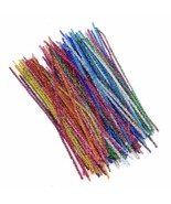 100pcs/lot Colorful Twisted Wire Stick DIY Soft Handmade Felt Strip Twis... - $5.36