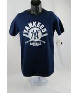 Big Boys T-Shirt New York Yankees Big Boys T-Shirt Sz XL 16/18 Navy - $8.99