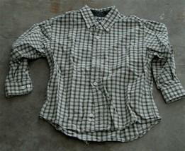 Gently Used 100% Cotton Boys Cherokee Medium Long Sleeve Button Shirt, VGC - $6.92