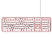 Actto KBD47 USB Wired Retro Korean English Keyboard (Pink)