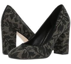 Michael Kors Jamie Studded Suede Slip-On Pump High-Heels, Size 6M, Black... - $58.19
