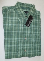 VAN HEUSEN Green Plaid Dress Shirt NWT Small 14 - 14 1/2 - $14.84