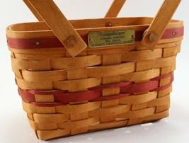 Vintage Signed 1992 Longaberger Christmas Collection Seasons Greetings Basket - $22.27
