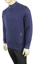 NEW MENS CLUB ROOM PERFORMANCE FULL ZIP COTTON NAVY SWEATER TRACK JACKET... - $23.99