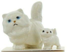 Hagen Renaker Miniature Cat and Kitten Fat White Persian Ceramic Figurine Set image 10