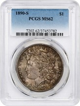 1890-S $1 PCGS MS62 - Morgan Silver Dollar - $92.15